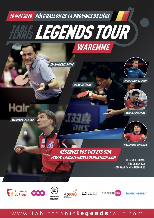 ITTF Legends tour 2018 Waremme